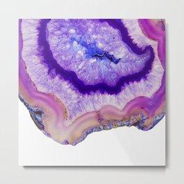 purple agate slice Metal Print