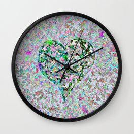 Love Heart Abstract Wall Clock