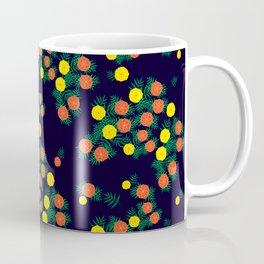 Marigold Flower at Night Coffee Mug