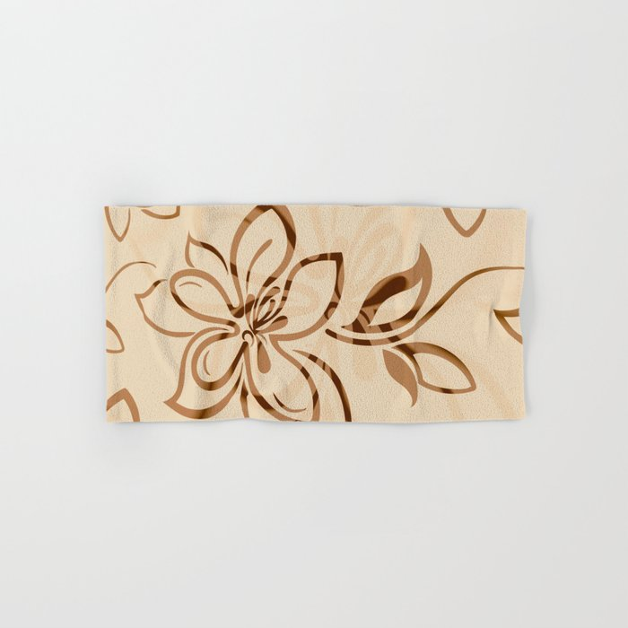 Brown Garden Hand & Bath Towel