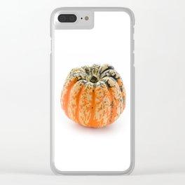 Single pumpkin Clear iPhone Case