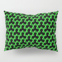 Impossible Green Triangles Pillow Sham