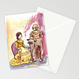 Victorian Couple Stationery Cards