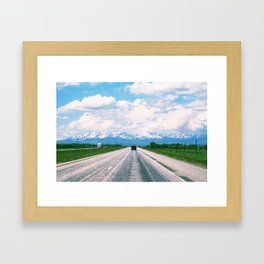 Middle of nowhere, Montana Framed Art Print