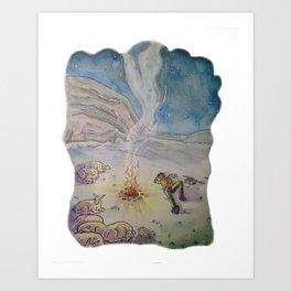 Popcorn the Lamb 10 Art Print