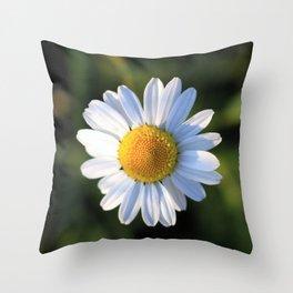 Chamomile flower Throw Pillow