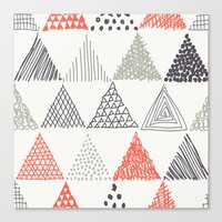 triangle Canvas Prints featuring Triangle by samedia