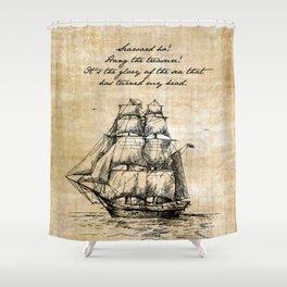 Treasure Island - Robert Louis Stevenson Shower Curtain
