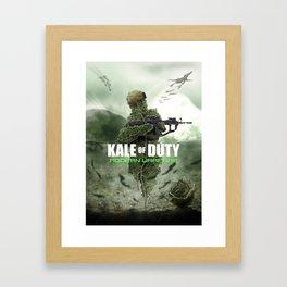 KALE OF DUTY Framed Art Print