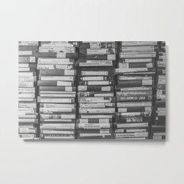 VHS Retro (Black and White) Metal Print