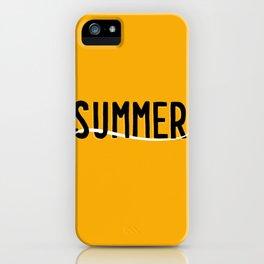 Summer lettering wave iPhone Case