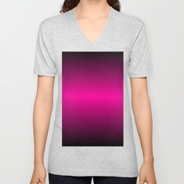 Pink and Black Gradient Colors Unisex V-Neck