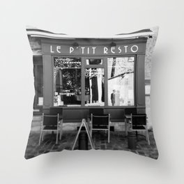 Le P'tit Resto  //  France - travel photography Throw Pillow