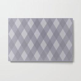 Pantone Lilac Gray Argyle Plaid Diamond Pattern Metal Print