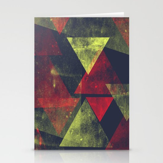 weathered triangles Stationery Cards