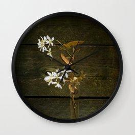 Shadbush Flowers Wall Clock