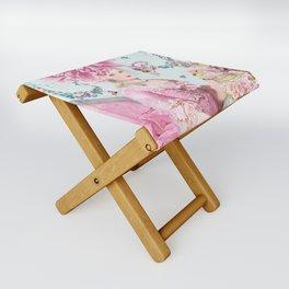 Marie Antoinette Wallflower Folding Stool