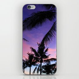 The Perfect Palm Sunset in Bali iPhone Skin