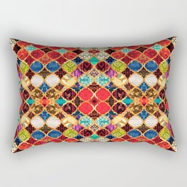 N96 - Heritage Traditional Islamic Moroccan Tiles Style Artwork. Rectangular Pillow