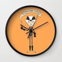 badger Wall Clocks featuring Badger by Derek Eads