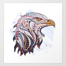 Colorful Ethnic Eagle Art Print