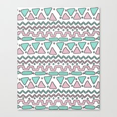Pink and Mint Canvas Print