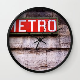 French Metro Sign Wall Clock