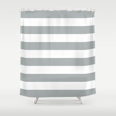 stripe horizontal grey u0026 white shower curtain