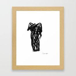 Boceto gestual 9 Framed Art Print
