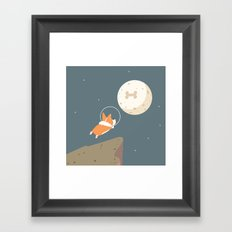 Fly to the moon Framed Art Print