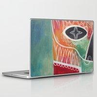 calavera Laptop & iPad Skins featuring Calavera 1 by Santiago Uceda