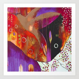 """""""Reflect You"""" Original Painting by Flora Bowley Art Print"""