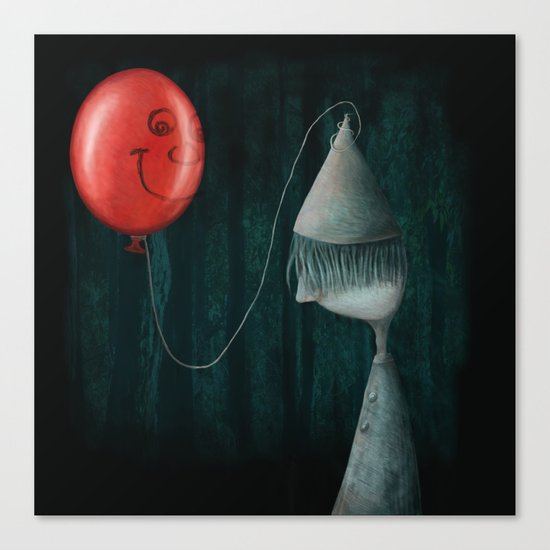 The Boy and the Balloon Canvas Print