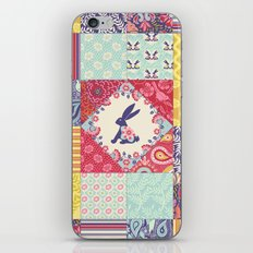 Bunnies and Blooms Quilt Blocks iPhone & iPod Skin