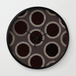 Circles Sheet Pattern Wall Clock