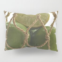 Fresh limes on the Net Pillow Sham