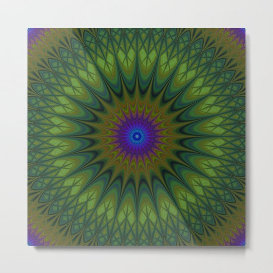 Nature mandala Metal Print