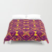 asia Duvet Covers featuring Asia 2 by Emma Stein