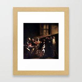 Caravaggio The Calling of Saint Matthew Framed Art Print