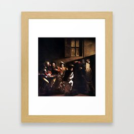 Caravaggio The Calling of Saint Matthew Framed Art Print