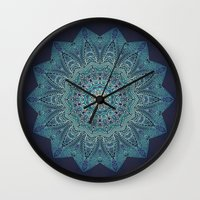 lace Wall Clocks featuring LACE by Monika Strigel