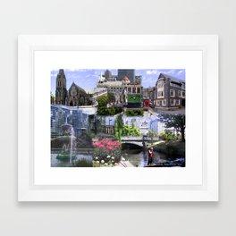 Christchurch Collage No 2 Framed Art Print