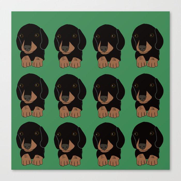 Dachshund Puppies Galore! Canvas Print