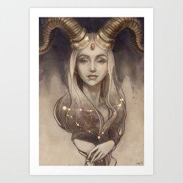 Zodiac Capricorn Art Print