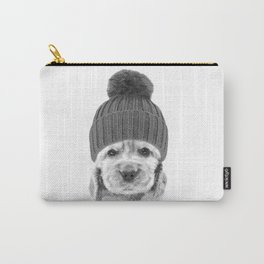 Black and White Cocker Spaniel Carry-All Pouch