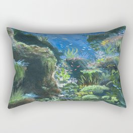 Underwater Blues Rectangular Pillow