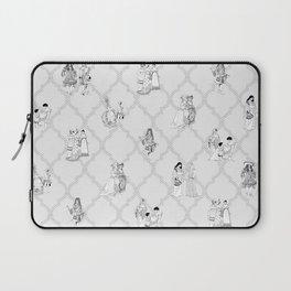 Royal Pattern Grey Laptop Sleeve