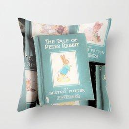 Peter Rabbit and friends Throw Pillow