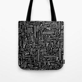 Horns B&W Tote Bag