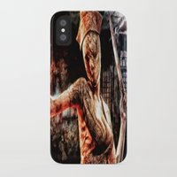 silent hill iPhone & iPod Cases featuring Death By Medicine Silent Hill Nurses by Joe Misrasi